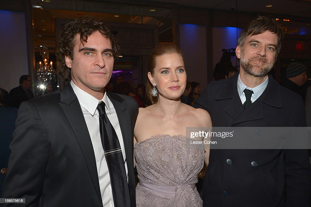 Actor <a gi-track='captionPersonalityLinkClicked' href=/galleries/search?phrase=Joaquin+Phoenix&family=editorial&specificpeople=215391 ng-click='$event.stopPropagation()'>Joaquin Phoenix</a>, actress <a gi-track='captionPersonalityLinkClicked' href=/galleries/search?phrase=Amy+Adams&family=editorial&specificpeople=213938 ng-click='$event.stopPropagation()'>Amy Adams</a> and director <a gi-track='captionPersonalityLinkClicked' href=/galleries/search?phrase=Paul+Thomas+Anderson+-+American+Director&family=editorial&specificpeople=820943 ng-click='$event.stopPropagation()'>Paul Thomas Anderson</a> attend the 38th Annual Los Angeles Film Critics Association Awards at InterContinental Hotel on January 12, 2013 in Century City, California.