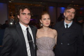 Actor Joaquin Phoenix actress Amy Adams and director Paul Thomas Anderson attend the 38th Annual Los Angeles Film Critics Association Awards at...