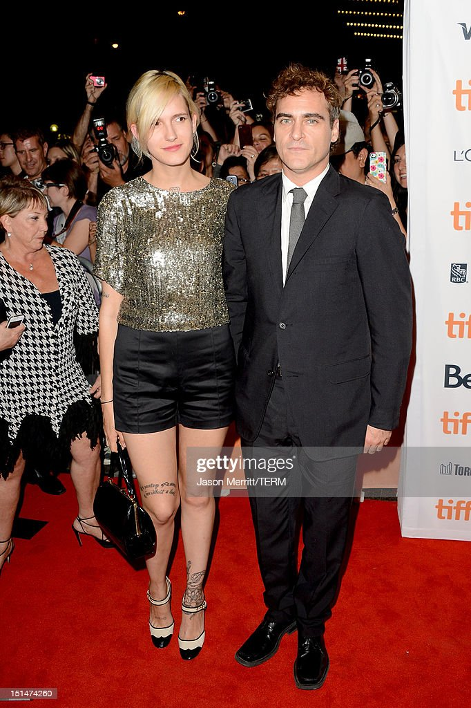 Actor <a gi-track='captionPersonalityLinkClicked' href=/galleries/search?phrase=Joaquin+Phoenix&family=editorial&specificpeople=215391 ng-click='$event.stopPropagation()'>Joaquin Phoenix</a> and Heather Christie attend 'The Master' Premiere during the 2012 Toronto International Film Festival at Princess of Wales Theatre on September 7, 2012 in Toronto, Canada.