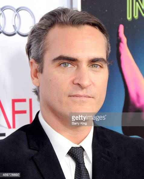 Actor Joaquin Phoenix arrives at AFI FEST 2014 Presented by Audi Gala Premiere of 'Inherent Vice' at the Egyptian Theatre on November 8 2014 in...