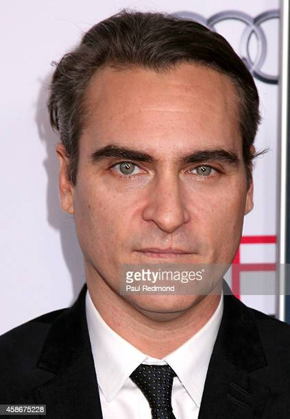 Actor Joaquin Phoenix attends AFI FEST 2014 Presented By Audi Gala premiere of 'Inherent Vice' at the Egyptian Theatre on November 8 2014 in...