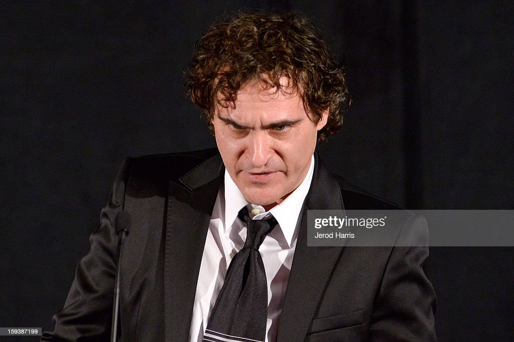 Actor Joaquin Phoenix attends the 38th Annual Los Angeles Film Critics Association Awards - Show at InterContinental Hotel on January 12, 2013 in Century City, California.