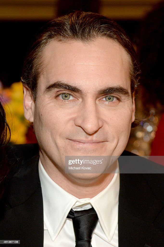 Actor <a gi-track='captionPersonalityLinkClicked' href=/galleries/search?phrase=Joaquin+Phoenix&family=editorial&specificpeople=215391 ng-click='$event.stopPropagation()'>Joaquin Phoenix</a> attends the 72nd Annual Golden Globe Awards cocktail party at The Beverly Hilton Hotel on January 11, 2015 in Beverly Hills, California.