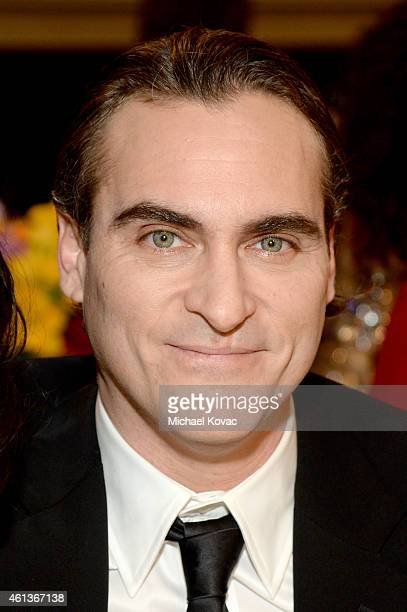 Actor Joaquin Phoenix attends the 72nd Annual Golden Globe Awards cocktail party at The Beverly Hilton Hotel on January 11 2015 in Beverly Hills...