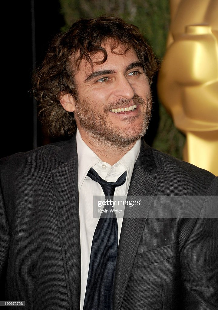 Actor Joaquin Phoenix attends the 85th Academy Awards Nominations Luncheon at The Beverly Hilton Hotel on February 4, 2013 in Beverly Hills, California.