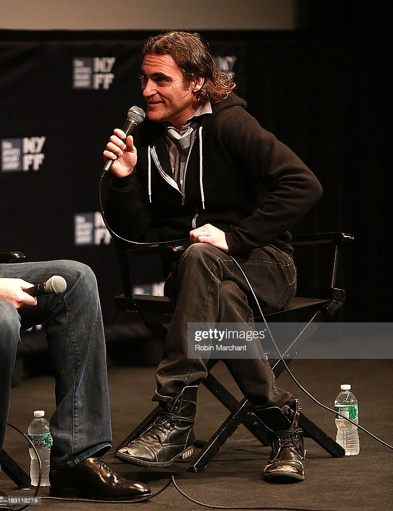 Actor Joaquin Phoenix attends the 'Immigrants' premiere during the 51st New York Film Festival at The Film Society of Lincoln Center, Walter Reade Theatre on October 4, 2013 in New York City.
