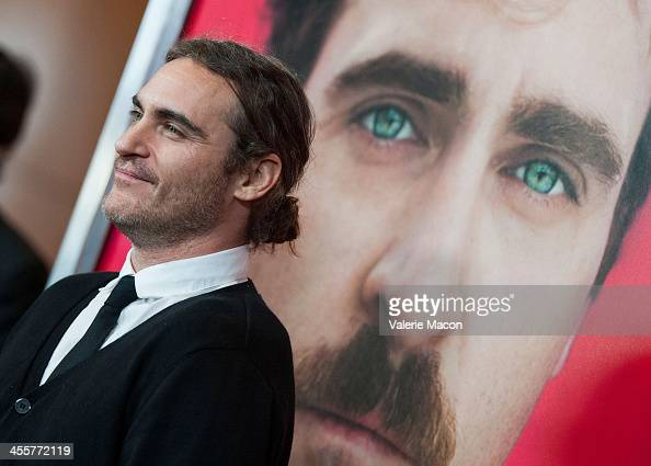 Actor Joaquin Phoenix attends the premiere of Warner Bros Pictures' 'Her' at DGA Theater on December 12 2013 in Los Angeles California