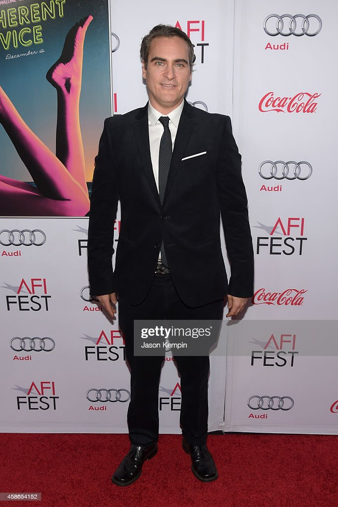 Actor <a gi-track='captionPersonalityLinkClicked' href=/galleries/search?phrase=Joaquin+Phoenix&family=editorial&specificpeople=215391 ng-click='$event.stopPropagation()'>Joaquin Phoenix</a> attends the screening of 'Inherent Vice' during AFI FEST 2014 presented by Audi at the Egyptian Theatre on November 8, 2014 in Hollywood, California.