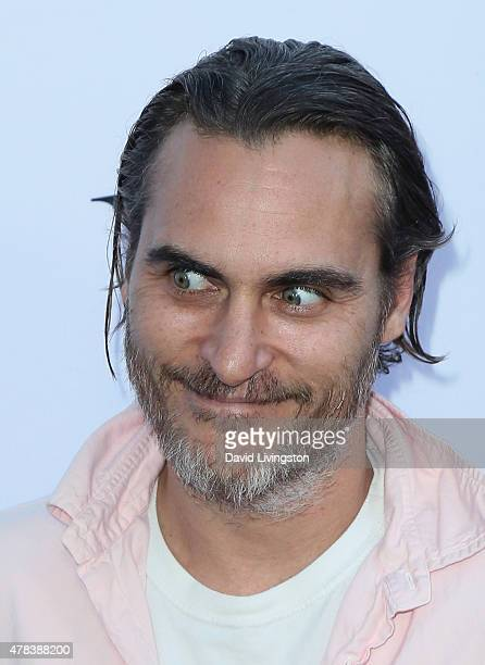 Actor Joaquin Phoenix attends the world premiere screening of the documentary 'Unity' at the DGA Theater on June 24 2015 in Los Angeles California