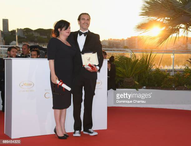 Actor Joaquin Phoenix who won the award for Best Actor for his part in the movie 'You Were Never Really Here' and director Lynne Ramsey who won the...