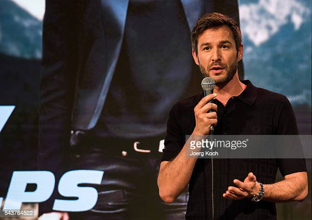 Actor Jochen Schropp attends a press conference about the movie 'Love of Alps ' during the Munich Film Festival 2016 at AmpereMuffatwerk on June 30...