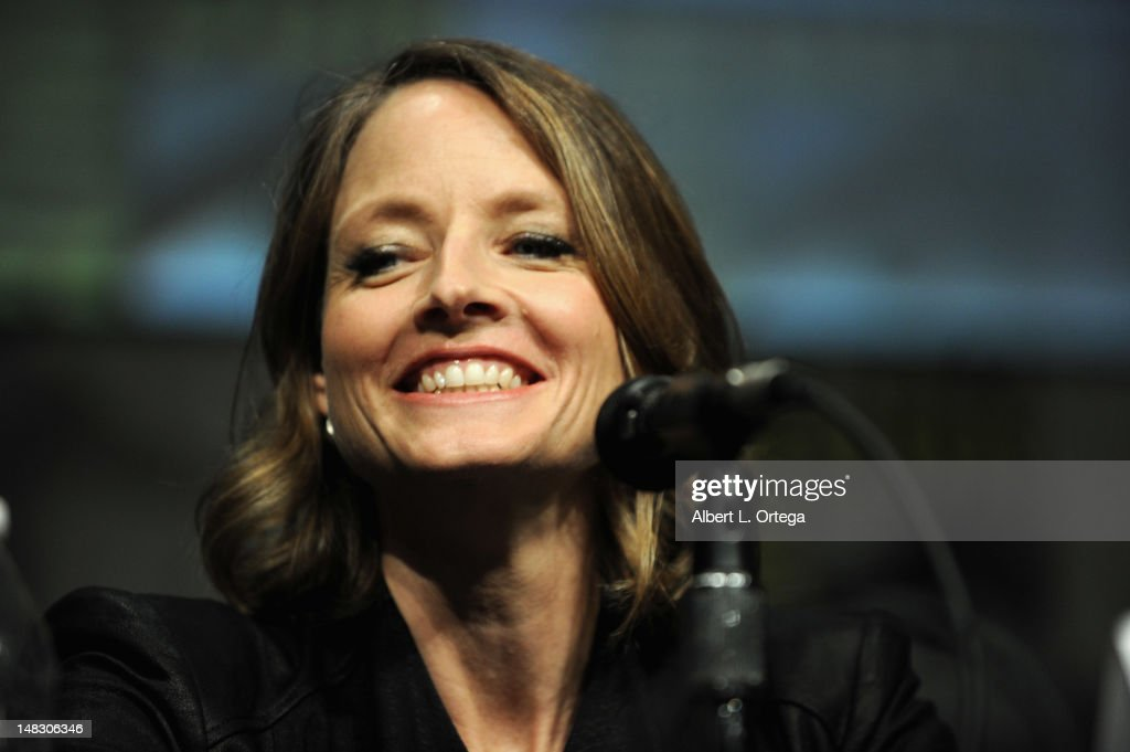 Actor Jodie Foster speaks during Sony's 'Elysium' panel during Comic-Con International 2012 at San Diego Convention Center on July 13, 2012 in San Diego, California.