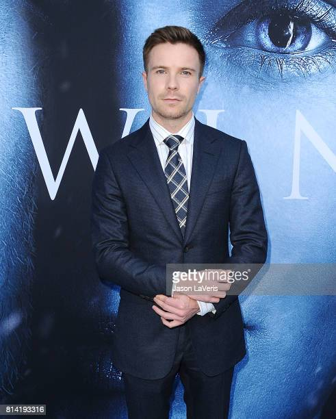 Actor Joe Dempsie attends the season 7 premiere of 'Game Of Thrones' at Walt Disney Concert Hall on July 12 2017 in Los Angeles California