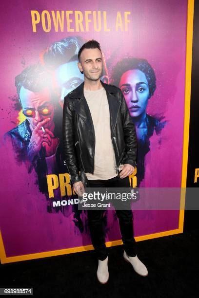 Actor Joe Gilgun attends AMC's 'Preacher' Season 2 Premiere at the Theater at the Ace Hotel on June 20 2017 in Los Angeles California