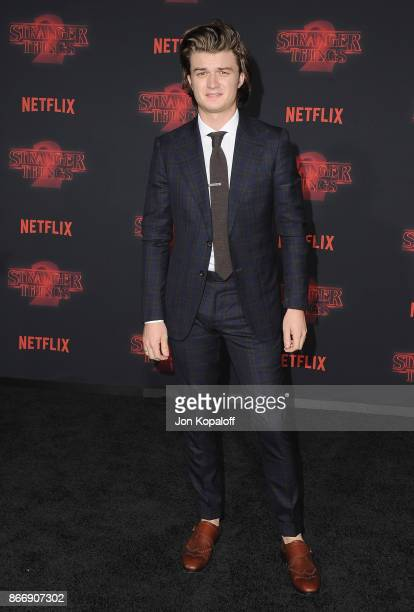 Actor Joe Keery arrives at the premiere of Netflix's 'Stranger Things' Season 2 at Regency Bruin Theatre on October 26 2017 in Los Angeles California