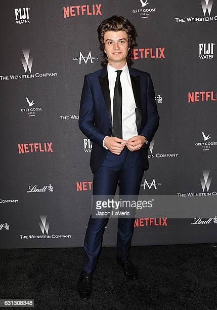 Actor Joe Keery attends the 2017 Weinstein Company and Netflix Golden Globes after party on January 8 2017 in Los Angeles California