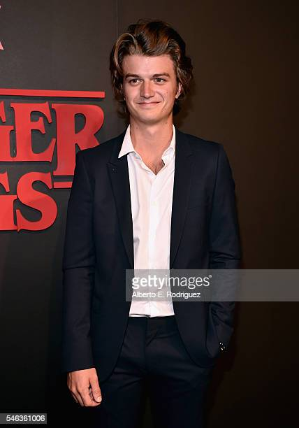 Actor Joe Keery attends the Premiere of Netflix's 'Stranger Things' at Mack Sennett Studios on July 11 2016 in Los Angeles California