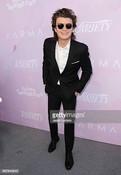 Actor Joe Keery attends Variety's celebratory brunch event for awards nominees benefitting Motion Picture Television Fund at Cecconi's on January 28...