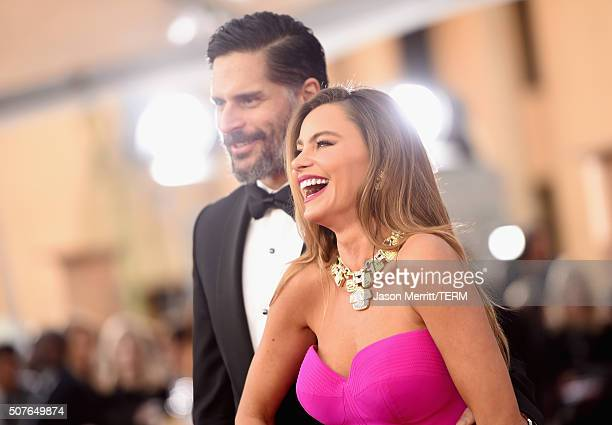 Actor Joe Manganiello and actress Sofia Vergara attend The 22nd Annual Screen Actors Guild Awards at The Shrine Auditorium on January 30 2016 in Los...