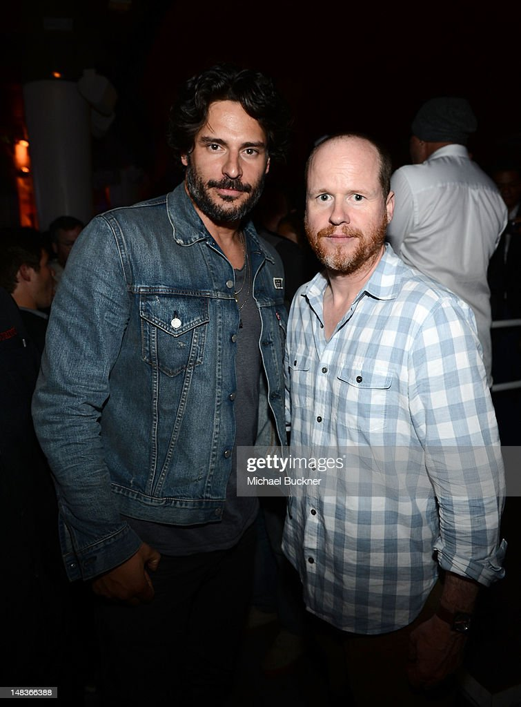 Actor <a gi-track='captionPersonalityLinkClicked' href=/galleries/search?phrase=Joe+Manganiello&family=editorial&specificpeople=2516889 ng-click='$event.stopPropagation()'>Joe Manganiello</a> (L) and director <a gi-track='captionPersonalityLinkClicked' href=/galleries/search?phrase=Joss+Whedon&family=editorial&specificpeople=2212235 ng-click='$event.stopPropagation()'>Joss Whedon</a> attend Entertainment Weekly's 6th Annual Comic-Con Celebration sponsored by Just Dance 4 held at the Hard Rock Hotel San Diego on July 14, 2012 in San Diego, California.