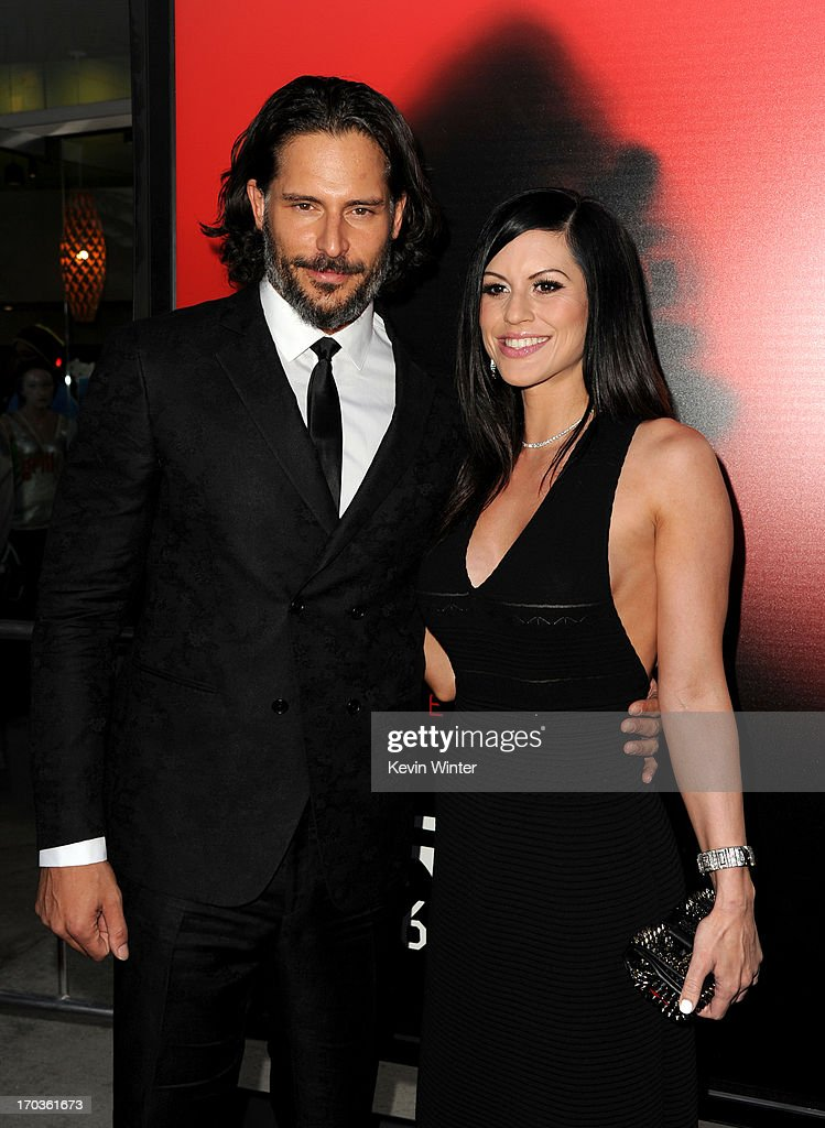 Actor <a gi-track='captionPersonalityLinkClicked' href=/galleries/search?phrase=Joe+Manganiello&family=editorial&specificpeople=2516889 ng-click='$event.stopPropagation()'>Joe Manganiello</a> and model Bridget Peters and attend the premiere of HBO's 'True Blood' at ArcLight Cinemas Cinerama Dome on June 11, 2013 in Hollywood, California.