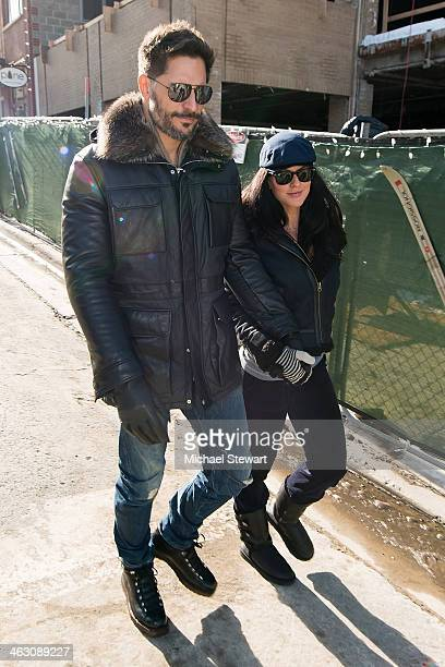 Actor Joe Manganiello and model Bridget Peters seen on the street on January 16 2014 in Park City Utah