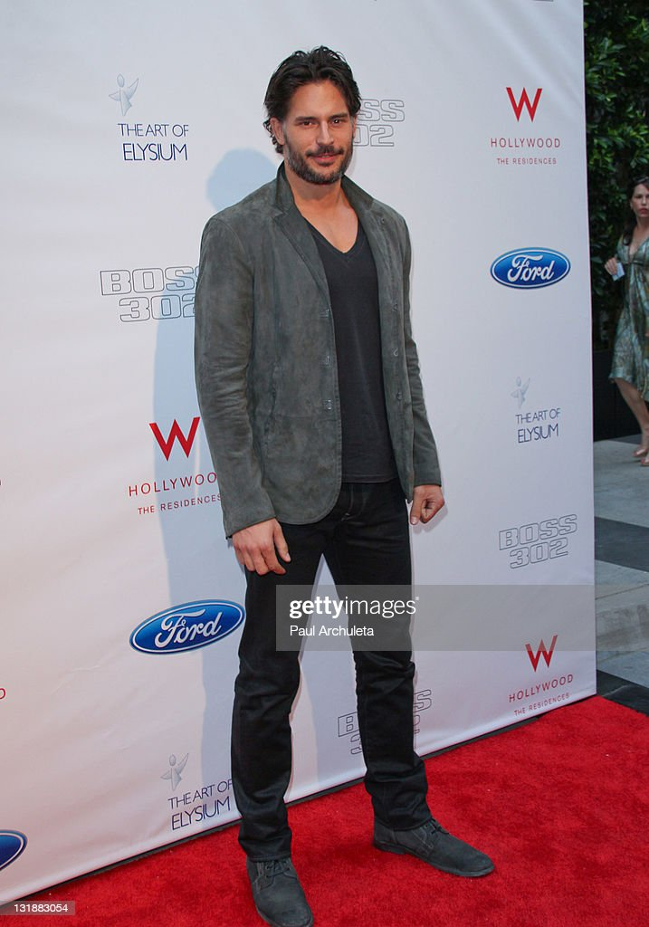 Actor Joe Manganiello arrives at the Art Of Elysium to celebrate the return of the Ford Mustang Boss 302 on June 9 2011 in Los Angeles California