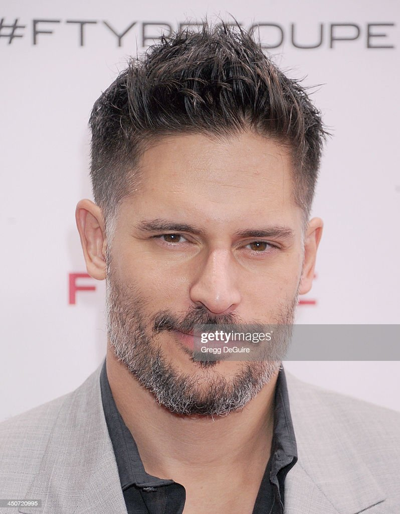 Actor Joe Manganiello arrives at the Jaguar F-TYPE Coupe launch party at Raleigh Studios on November 19, 2013 in Playa Vista, California.