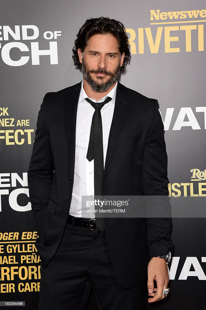 Actor <a gi-track='captionPersonalityLinkClicked' href=/galleries/search?phrase=Joe+Manganiello&family=editorial&specificpeople=2516889 ng-click='$event.stopPropagation()'>Joe Manganiello</a> arrives at the premiere of Open Road Films' 'End of Watch' at Regal Cinemas L.A. Live on September 17, 2012 in Los Angeles, California.