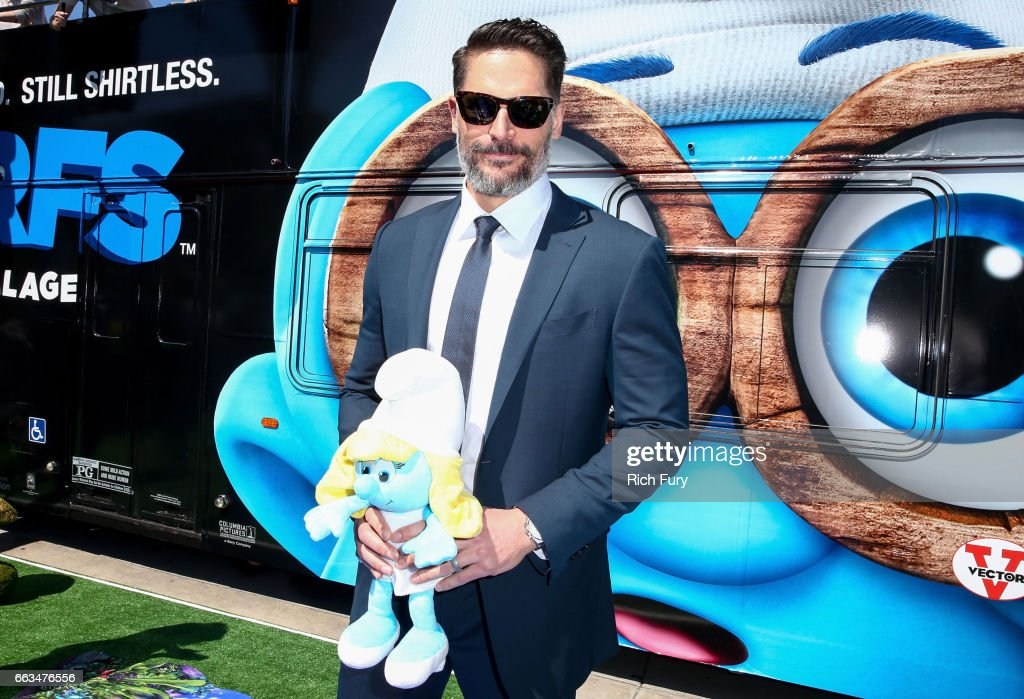 Actor Joe Manganiello arrives at the premiere of Sony Pictures' 'Smurfs: The Lost Village' at ArcLight Cinemas on April 1, 2017 in Culver City, California.