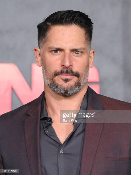 Actor Joe Manganiello arrives for the Premiere of Warner Bros Pictures' 'Kong Skull Island' at Dolby Theatre on March 8 2017 in Hollywood California