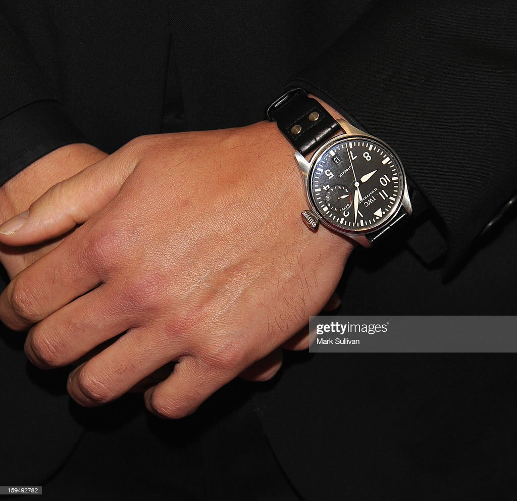 Actor Joe Manganiello (watch detail) at HBO's 70th Annual Golden Globes after party at Circa 55 Restaurant on January 13, 2013 in Los Angeles, California.