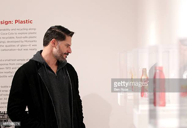 Actor Joe Manganiello attends The CocaCola Bottle An American Icon at 100 exhibition at the High Museum of Art on February 26 2015 in Atlanta Georgia