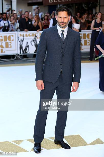 Actor Joe Manganiello attends the European Premiere of 'Magic Mike XXL' at Vue West End on June 30 2015 in London England