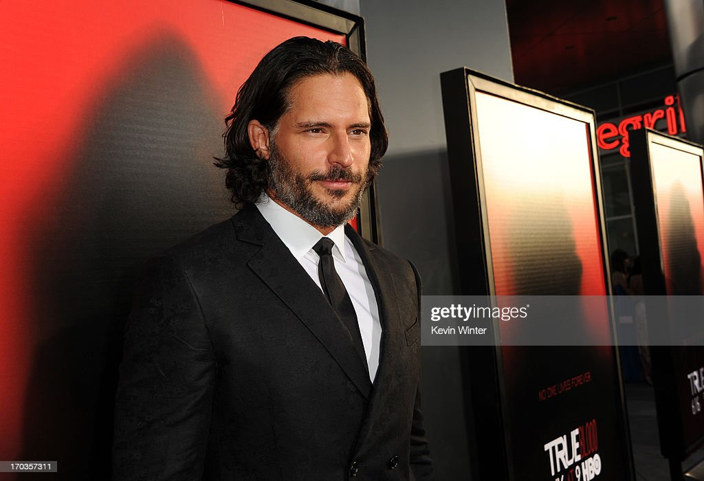 Actor <a gi-track='captionPersonalityLinkClicked' href=/galleries/search?phrase=Joe+Manganiello&family=editorial&specificpeople=2516889 ng-click='$event.stopPropagation()'>Joe Manganiello</a> attends the premiere of HBO's 'True Blood' at ArcLight Cinemas Cinerama Dome on June 11, 2013 in Hollywood, California.