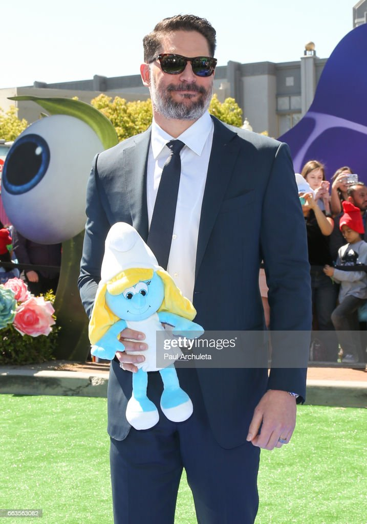 Actor Joe Manganiello attends the premiere of 'Smurfs: The Lost Village' at ArcLight Cinemas on April 1, 2017 in Culver City, California.