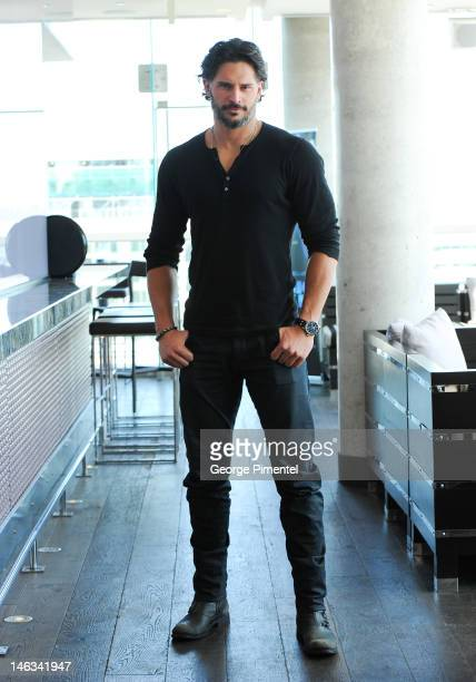 Actor Joe Manganiello poses for a portrait at the press junket for his new film 'Magic Mike' at the Thompson Hotel on June 14 2012 in Toronto Canada