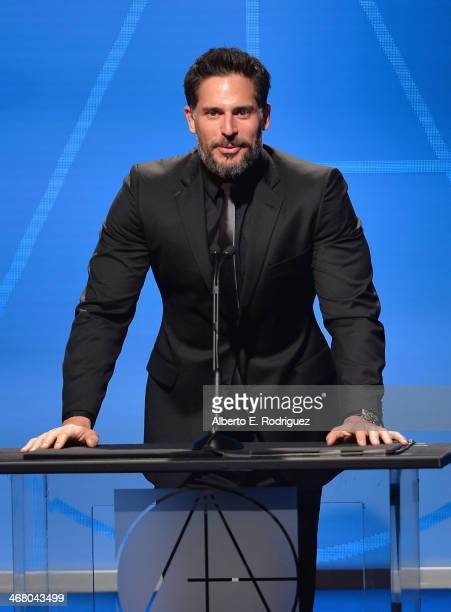 Actor Joe Manganiello speaks on stage atthe 18th Annual Art Directors Guild Exellence In Production Design Awards at The Beverly Hilton Hotel on...