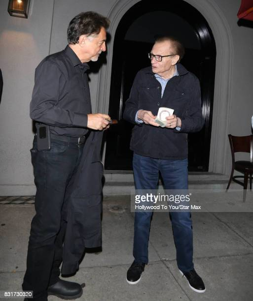 Actor Joe Mantegna and Larry King are seen on August 14 2017 in Los Angeles CA