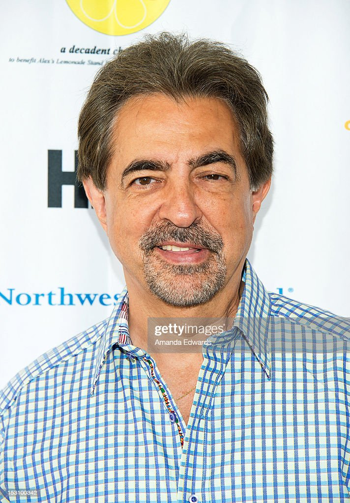 Actor <a gi-track='captionPersonalityLinkClicked' href=/galleries/search?phrase=Joe+Mantegna&family=editorial&specificpeople=207165 ng-click='$event.stopPropagation()'>Joe Mantegna</a> arrives at the L.A. Loves Alex's Lemonade Culinary Event at Culver Studios on September 29, 2012 in Culver City, California.