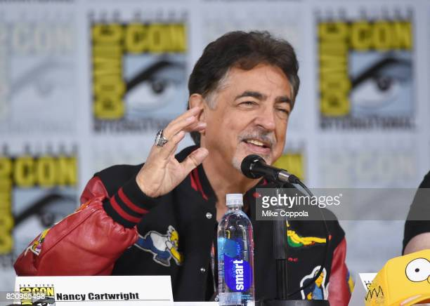 Actor Joe Mantegna attends 'The Simpsons' panel during ComicCon International 2017 at San Diego Convention Center on July 22 2017 in San Diego...