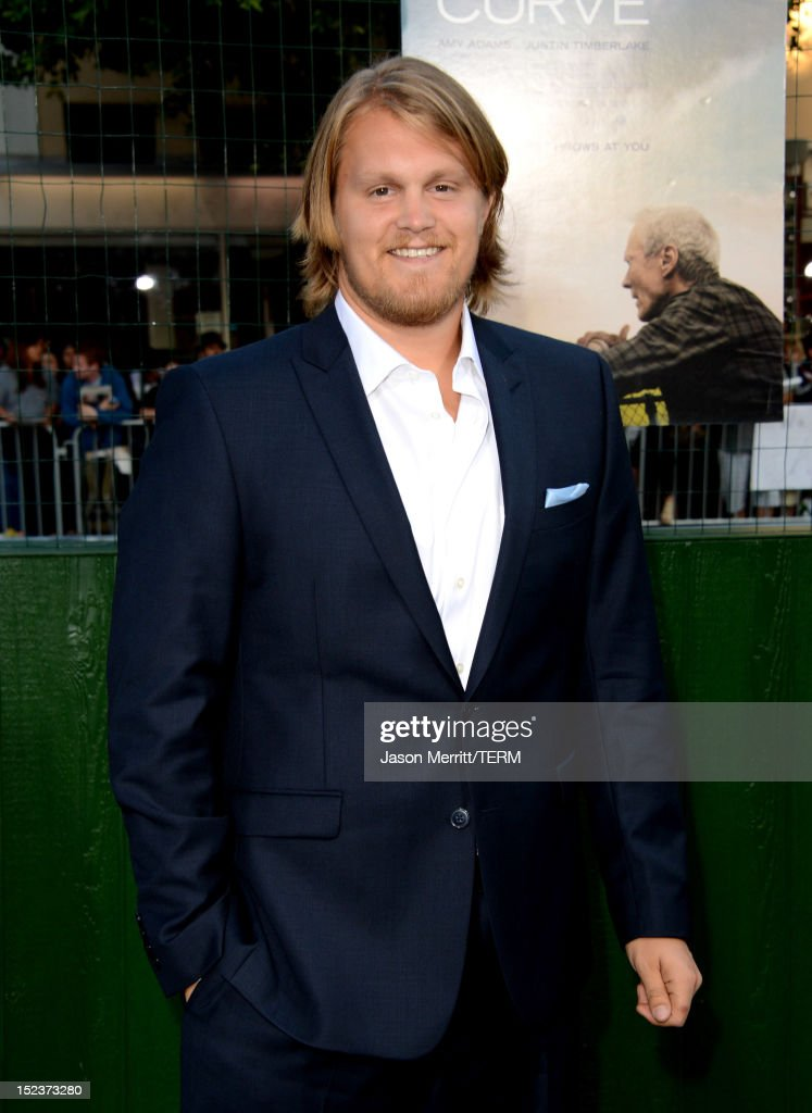Actor Joe Massingill arrives at Warner Bros. Pictures' 'Trouble With The Curve' premiere at Regency Village Theatre on September 19, 2012 in Westwood, California.