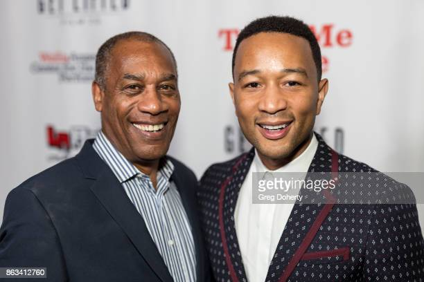 Actor Joe Morton and Singersongwriter John Legend Attend 'Turn Me Loose' at Wallis Annenberg Center for the Performing Arts on October 19 2017 in...