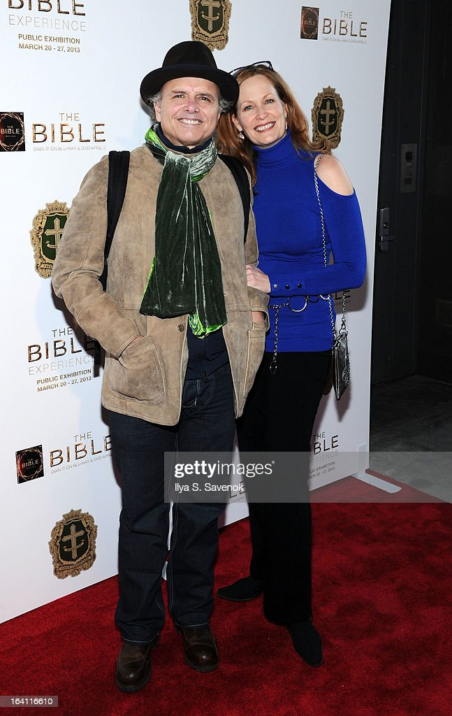 Actor Joe Pantoliano and wife Nancy Sheppard attend 'The Bible Experience' Opening Night Gala at The Bible Experience on March 19, 2013 in New York City.