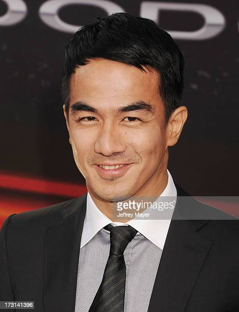 Actor Joe Taslim arrives at the 'Fast The Furious 6' Los Angeles premiere at Gibson Amphitheatre on May 21 2013 in Universal City California