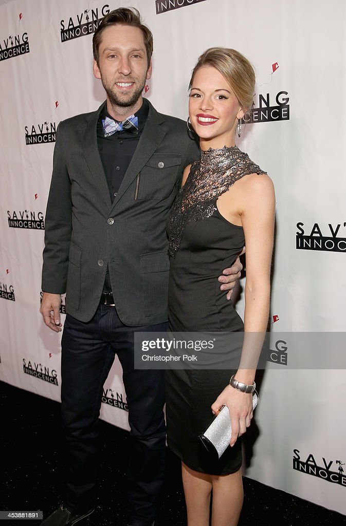 Actor Joel David Moore (L) and model Ellen Michelle Monohan attend the 2nd Annual Saving Innocence Gala at The Crossing on December 5, 2013 in Los Angeles, California.