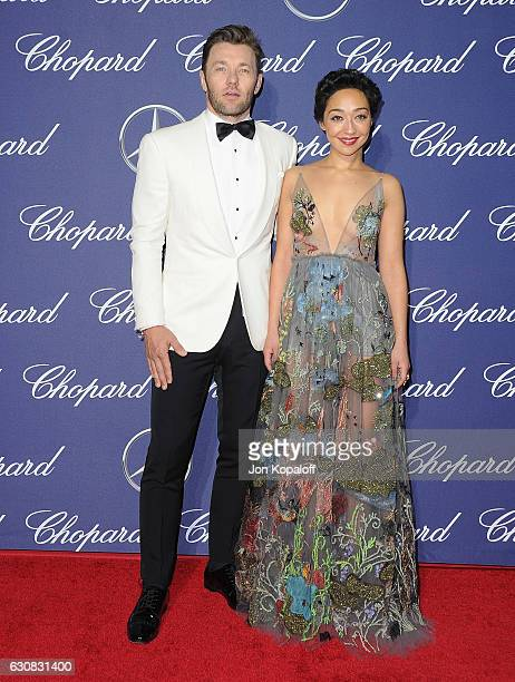 Actor Joel Edgerton and actress Ruth Negga arrive at the 28th Annual Palm Springs International Film Festival Film Awards Gala at Palm Springs...