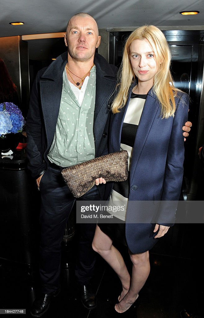 Actor Joel Edgerton (L) and director Gracie Otto attend a post-screening party for 'The Last Impresario' during the 57th BFI London Film Festival at The Arts Club on October 13, 2013 in London, England.