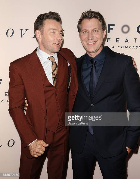 Actor Joel Edgerton and director Jeff Nichols attend the premiere of 'Loving' at Samuel Goldwyn Theater on October 20 2016 in Beverly Hills California