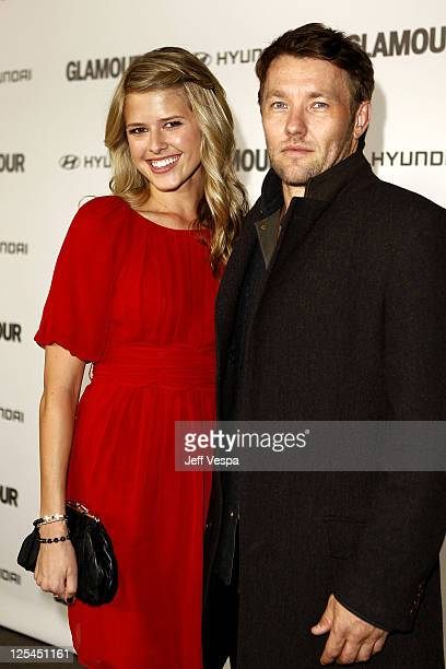Actor Joel Edgerton and guest arrive at the 5th Anniversary of Glamour Reel Moments presented by Hyundai at Directors Guild Of America on October 25...